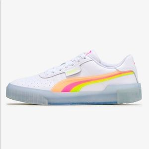PUMA Cali Neon Iced Women white Sneaker, 7.5